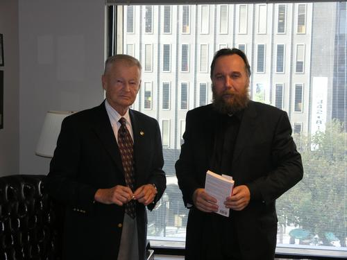 Aleksandr Dugin meeting with trilateralist, Zbigniew Brzezinski.