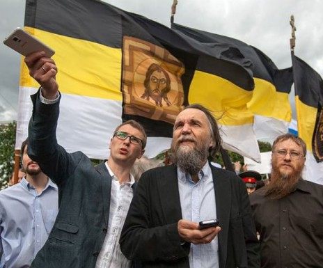 "Alexander Dugin, a controversial ideologue known for his admiration of fascism and the killing of Ukrainians; and Valery Korovin, a political analyst who calls for ""the domination of leftist economics and rightist politics"